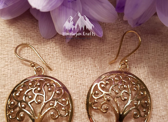 Tree Of Life (Brass Earring)