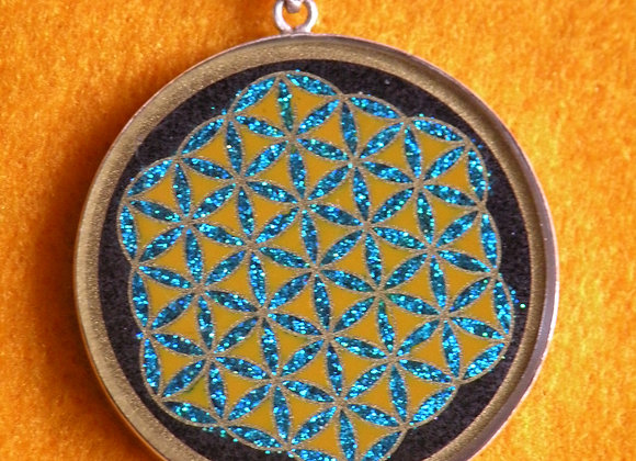 "Flower Of Life"" On Black Onix St.Silver"