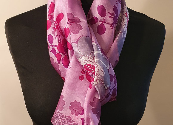Fine Silk scarf (Mauve)