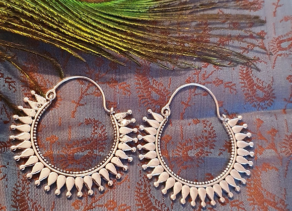 Large Bali Earrings (Silver Plated)
