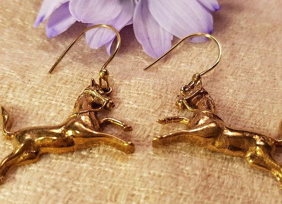Horse Earrings ( Brass)