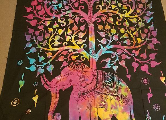 Tree Of Life On Elephant(Multicolour)
