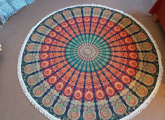 Peacock Mandala(Rusty Orange and Green)