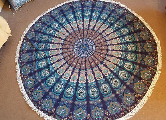 Peacock Mandala(Purple,Green&Brown)