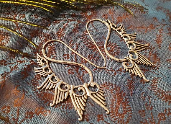 Swan Earrings ( Silver Plated )