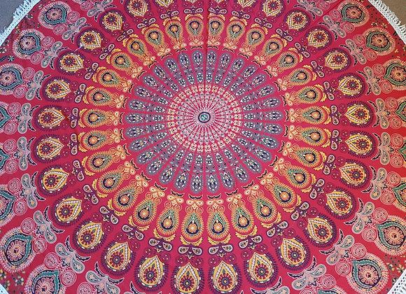 Peacock Mandala(Shades of Red)