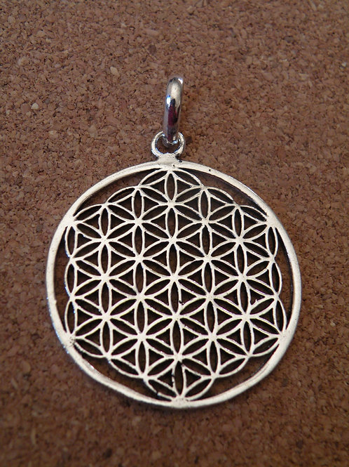"""""""Flower of Life""""Silver polished Pendent"""
