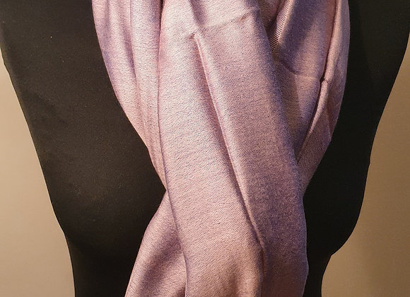 Double Shaded Pashmina In Soft Pink And Indigo