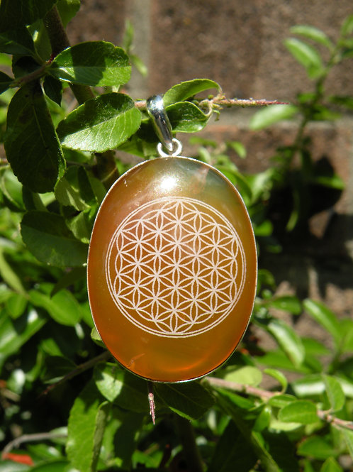 """""""Flower Of Life"""" on Citrine St.Silver"""