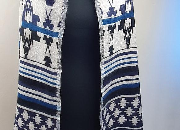 Large Double Sided Cosy Yak Woollen Shawl/Blanket(black,blue,white)