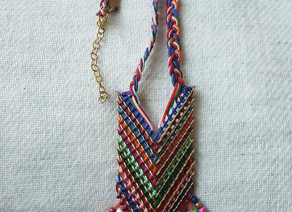 Multicolour handmade thread Necklace