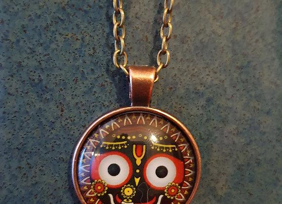 Hand Made Devi (Goddess) Brass Pendent.