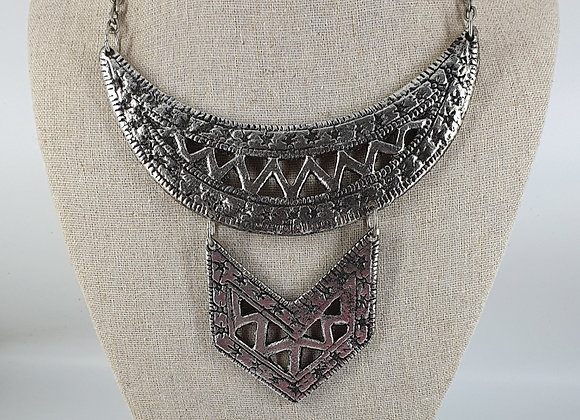 Silver Plated Antique finished Necklace
