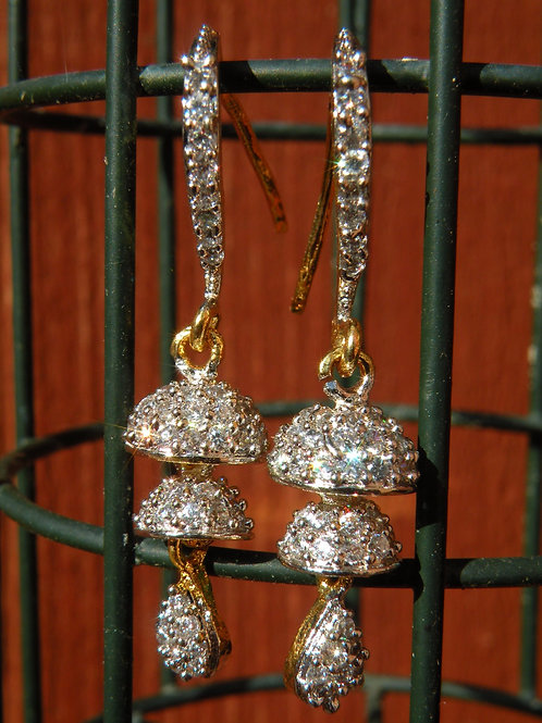 Cubic zircon earrings