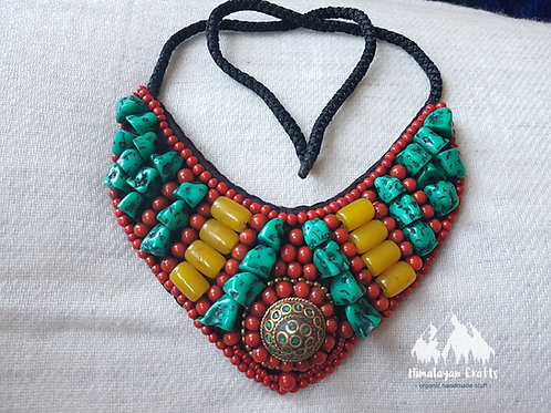 Himalayan Necklace with Turquoise