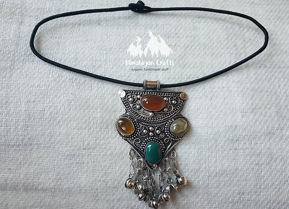 German silver Neckpiece with Stones