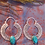 Thumbnail: Hoop Earrings with Turquoise(Silver Plated)