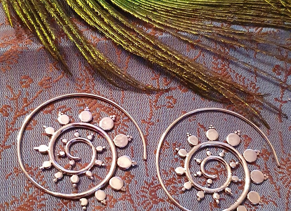 Spiral Dots Mandala (Silver Plated)