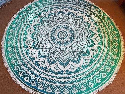 Mandala Roundie With Tassel Picnic Sheet Beach
