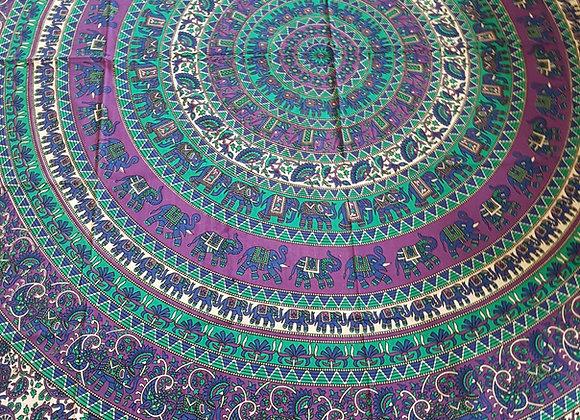 Elephant Mandala(Turquoise and Purple)