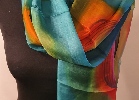 Fine Silk scarf (Multicoloured)