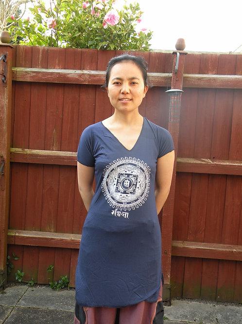 Womens Mandala Long T shirt