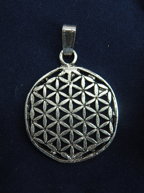 """""""Flower Of Life"""" In White Metal"""