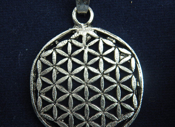 """Flower Of Life"" In (Silver Plated)"