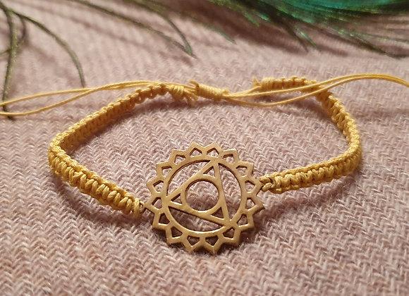 5th Chakra (Visuddha) Brass Bracelet