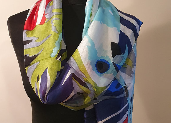 Fine Silk scarf (Multi Colour)