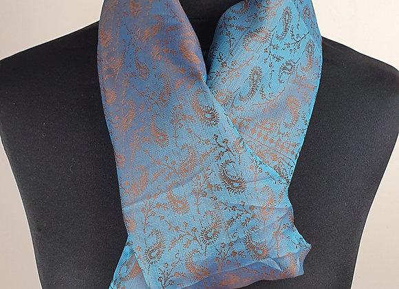 Fine Silk Stole  (Turquoise)