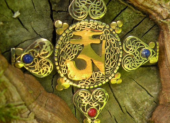 Buddhist Aum And Double Dourje