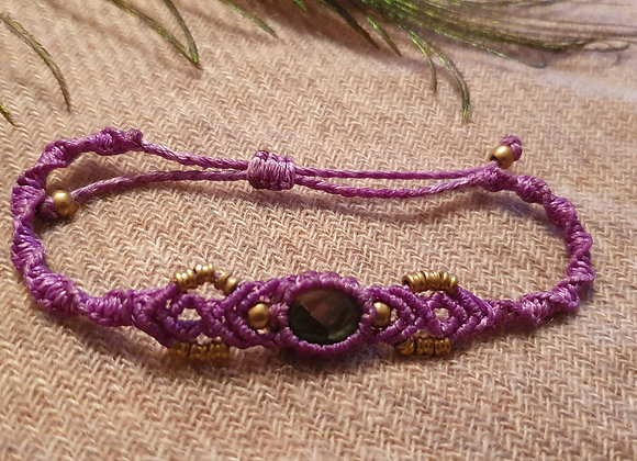 Moonstone Macramé Purple Bracelet