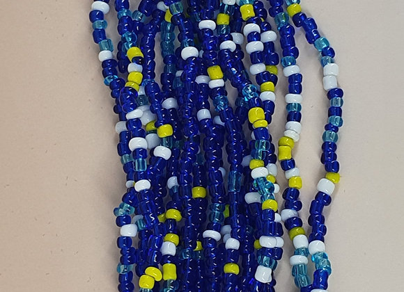 Blue and Yellow Beadded Bracelet