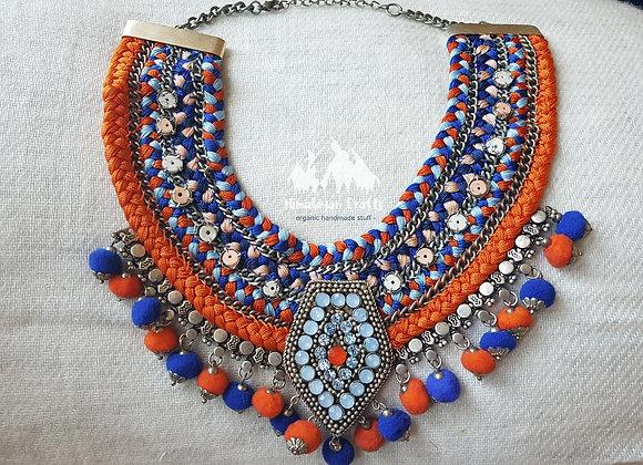 Handmade Pom Pom Necklace