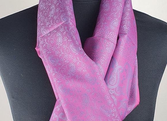 Fine Silk Stole  (Pink,Purple)