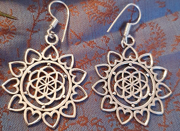 Seed Of Life Earrings (Silver Plated)