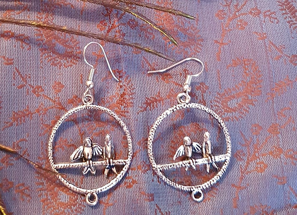 Bird Earrings (Silver Plated)