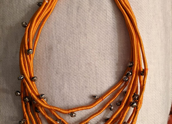 Chunky Thread Necklace with small bells