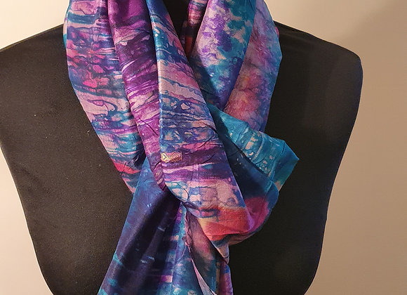 Large Raw Silk (Turquoise ,Magenta, Purple)