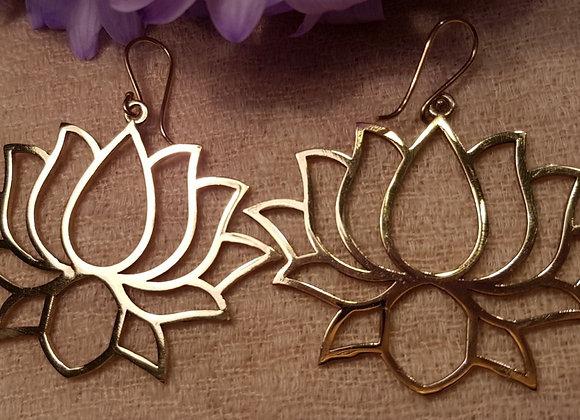 Devi Lotus Earring (Brass)