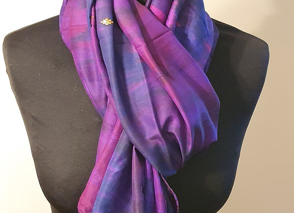 Large Raw Silk (Magenta ,Purple)