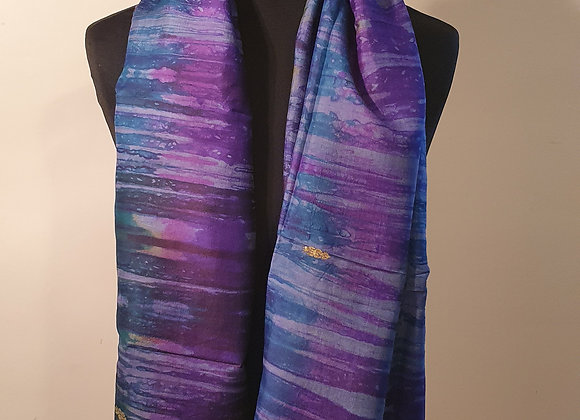 Large Raw Silk (Blue ,Purple, )