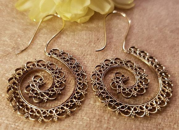 Spiral Mandala (Brass)