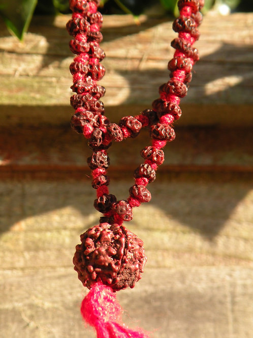 Small Rudraksha Necklace(Shiva Beads) With read Thread