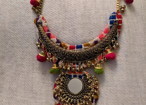 Beautiful Pom Pom Multicolur Necklace