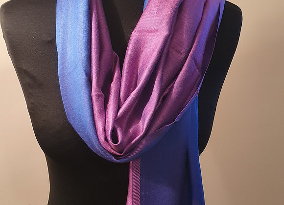 Double Shaded Pashmina In Soft Purple And Indigo