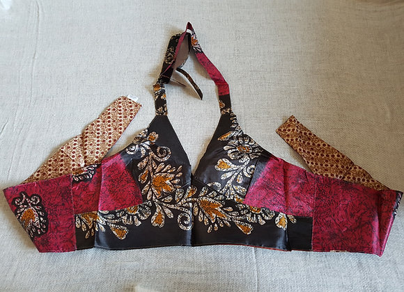 Reversible Saree Crop Tops #2(Adjustable)