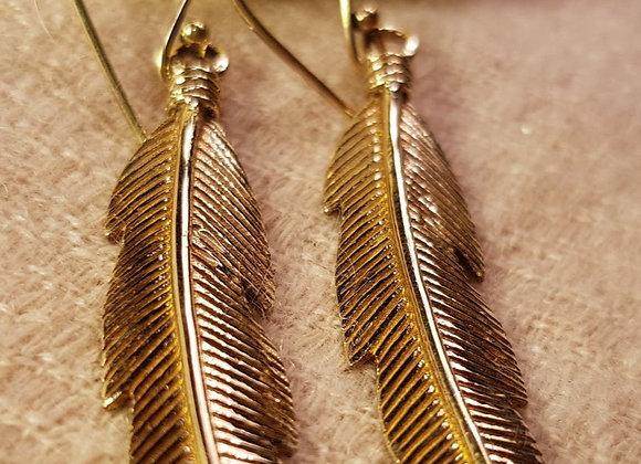 Leaf Earrings ( Brass )