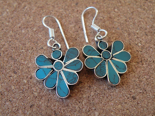 Turquoise earrings **silver Polished**